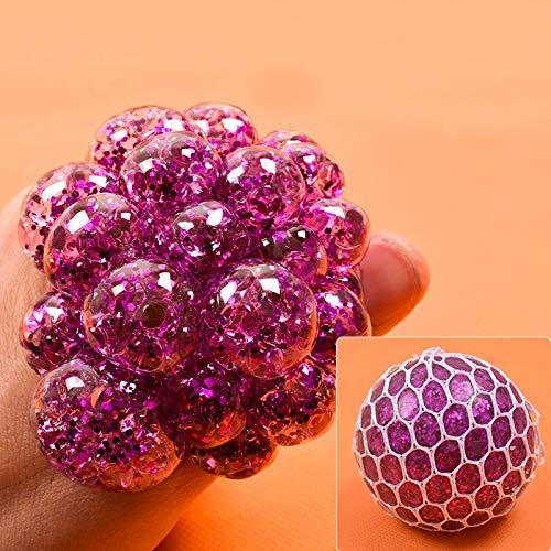 JiYanTang Juguete para apretar Juguetes de descompresión Bola de UVA Colorida Juguetes antiestrés Juguete Squeeze Relief Anti-estrés Niños Cosas Divertidas Bromas para Adultos Regalos 7-Purple6cm