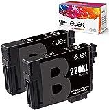 ejet Remanufactured Ink Cartridge Replacement for Epson 220 XL 220XL T220XL Used for WF-2760 WF-2750 WF-2630 WF-2650 WF-2660 XP-320 XP-420 XP-424 Printer (2 Black)
