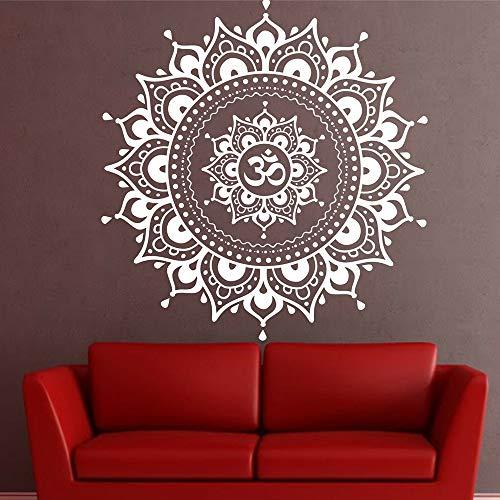 Indian Buddha Mandala tatuajes de pared Vinyl Eye Yoga Fatima Mandala Ganesh Lotus Vinilos decorativos extraíbles Arte Decoración del hogar A4 44x42cm