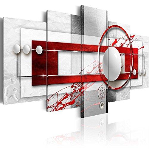 murando - Bilder 200x100 cm Vlies Leinwandbild 5 TLG Kunstdruck modern Wandbilder XXL Wanddekoration Design Wand Bild - Abstrakt a-A-0140-b-n