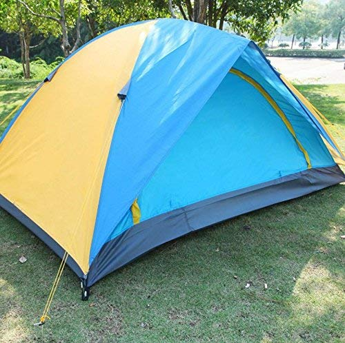 GCC Guo Outdoor Products Suitable 2 People Using Camping Tents, Outdoor Travel Camping Tents, Wearable Waterproof Oxford Cloth Waterproof Sunscreen, Home Portable Tents,2 Person,Blue