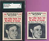 LOT 2) w/SGC AUTHENTIC BLANK BACK PROOF BOB FELLER 1961 NU CARD 460 GRADED TPHLC - Baseball Slabbed Rookie Cards. rookie card picture