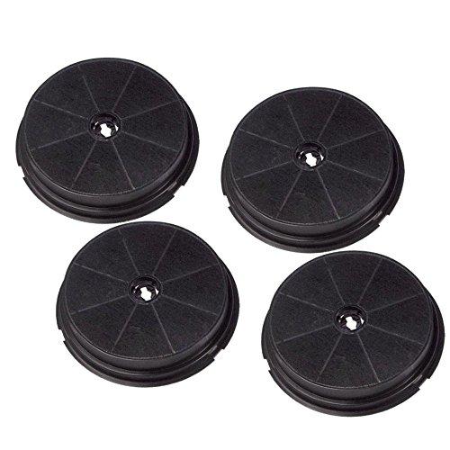 Super-voordeelset 4 stuks reservekoolfilter voor Beko afzuigkappen - geschikt voor CWB6, CWB6550X, CWB9550X, CWB9610X, H-ACK62258