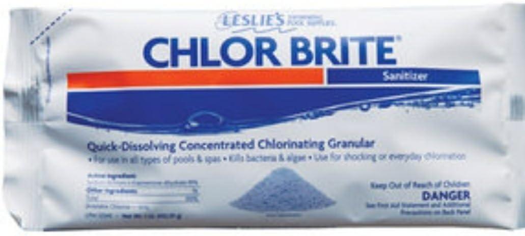 Leslies Chlor Long-awaited Brite Granular Chlorine Pool Denver Mall Sanitizer Pack 12