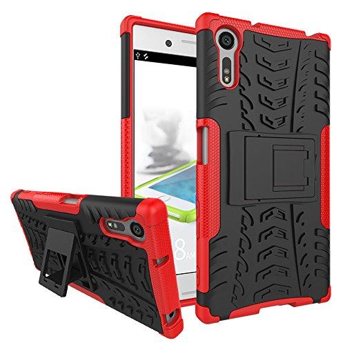 Jielangxin Funda para Sony Xperia XZ,Teléfono con Soporte a Prueba de Golpes Funda para Sony Xperia XZ F8331 F8332 Carcasa Case Funda Red