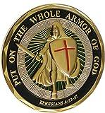 HARPIMER Cristiano Religioso Moneda Caballero Religioso Coleccionable Hermoso Regalo, Knight Armor, Armor of God