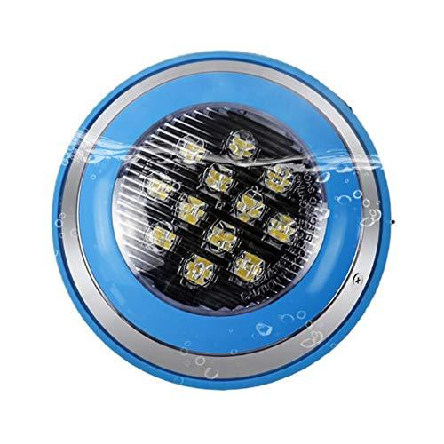 ASPZQ Lámpara de Fuente Lámparas Estanque SPA Acero Inoxidable Ip68 Led Piscina Luz CA 12V-24V Montadas En Superficie Luces LED Subacuáticas Decoración navideña (Color : RGB, Size : 9w)