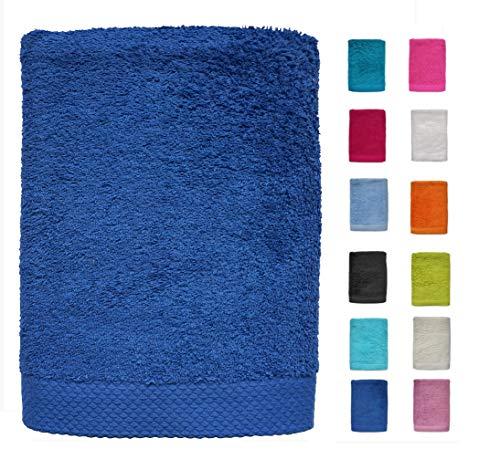DHestia Juego de Toallas de Baño y Ducha Algodón 100% 500 gr/m2, Surtido de Colores y Medidas Grandes, (Azulón, 100x150 cm (1 ud, 100 x 150 cm