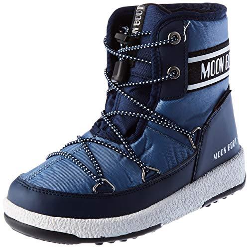 Moon-boot Jr Boy Mid WP 2, Snow Boot pour enfant - Multicolore - Navy Blue Avio, 33 EU Larga EU