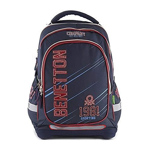 Target Benetton Backpack Schulrucksack, 44 cm, Blau (Blue)