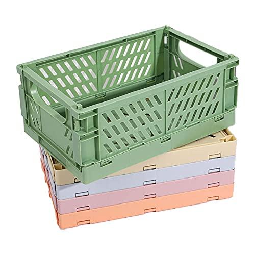 Milkvetch Caja Plegable de PláStico Caja de Almacenamiento Plegable Cesta Utilidad Contenedor de CosméTicos Soporte de Escritorio Uso en el Hogar