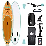 DAMA Blow Up Paddle Boards Adults 9'6'x30'x6', Traveling Board, Yoga Board,Camera Seat, Floating Paddle, Hand Pump, Waterproof Bag, Leash, Board Carrier, for Surfing, All Round Board