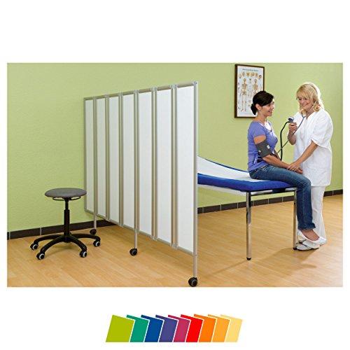 Sport-Tec Flexible Faltwand Raumteiler Sichtschutz Therapie Praxis, 5-flügelig 165x150 cm