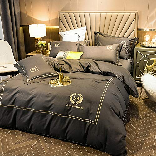 QAZ Modern And Simple Bedding Sets Include 1 Duvet Cover 1 Flat Sheet 2 Pillowcases Multi-color Optional (Color : A, Size : Queen)