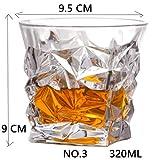 BQP Shot Whiskey Kristallglas Party Hochzeit Wein Likörglas Kaffee Tee Tasse für Bier Spirituosen Gläser Nr. 3 320 ml