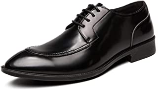 Scarpe Eleganti da Uomo per Uomo Scarpe comode Casual in Pelle con Lacci Derbys