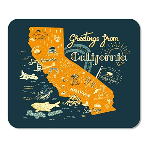 Mousepad Bloc de Notas Oficina Aventura de California Mapa Atracciones...