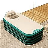 Bañera de baño Plegable Inflable con Tapa, Respaldo ABS Material inalámbrico Inflable Utilizado para bañarse SPA, Piscina para niños,Verde,1.4m
