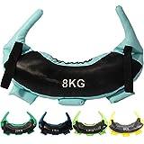 POWRX Bulgarien Gewichts Bag I 5 kg, 8 kg, 12 kg, 17 kg, 22 kg I Kunstleder Sandsack für Functional...