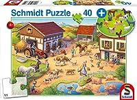 Bauernhof, 40 Teile, mit Add-on (Bauernhof-Figuren): Kinderpuzzle Standard mit Add-On, 40 Teile