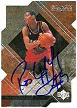 Autograph Warehouse 53019 Roshown Mcleod Autographed Basketball Card Atlanta Hawks 2000 Upper Deck Black Diamond No .3