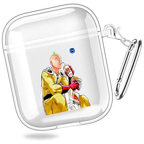 huijiameikeji One Punch Man Anime Allen Walker Manga Saitama Transparent Shell Case Cover For Funda AirPods 1/2 XTBD-458
