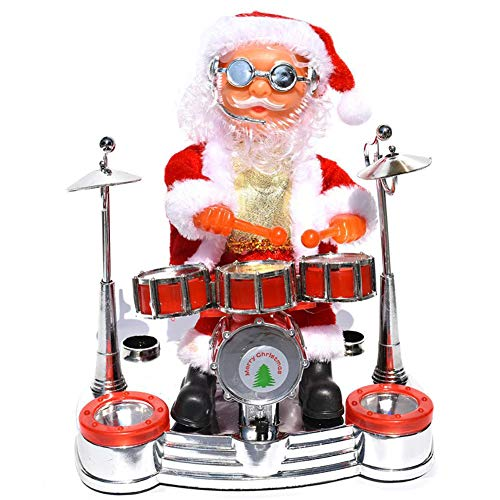 ECOSWAY Electric Santa Claus Doll Playing Musical Instruments Music Toy for Children Kid Christmas