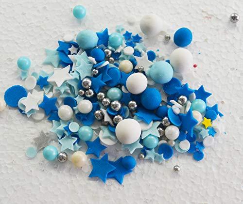 Suikercake Taart Toppers Decoratie Blauwe Hagelslag Bruiloft Verjaardag