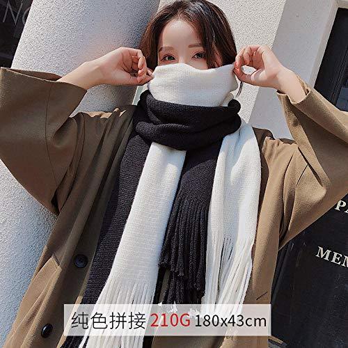 Mantón De Mujer Bufanda Roja Mujer Otoño E Invierno Salvaje Y Gruesa Bufanda Cálida Modelos De Pareja De Invierno para Hombres - Arroz Blanco Higo