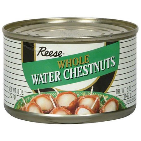 Reese Whole Water Chestnuts, 8 oz (Pack of 24)