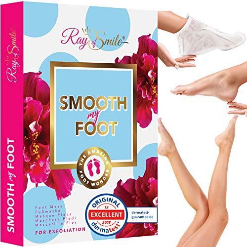 SMOOTH MY FOOT Masque de Pied | Peeling Pieds | Testé dermatologiquement | Enlève la peau rugueuse sur les pieds | Résultats rapides | RAY OF SMILE...
