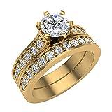 Glitz Design Mujer Niños Hombre Unisex oro 14 quilates (585) oro amarillo round-brilliant-shape J-K Diamond