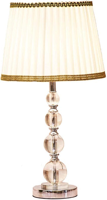 WEIBIN_LIU Schreibtischlampen Tischlampe, Europische Tischlampe Hotel Einfache Nachttischlampe aus Kristallglas Dimmbare Tischlampe aus Kristall, Tischlampe