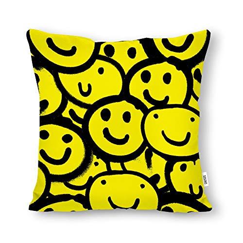 DKISEE - Funda de almohada decorativa con diseño de fresas rojas, cuadrada, lona de algodón, funda de cojín lumbar para sofá cama, sofá cama, Lona de algodón, Patrón 7, 26' x 26' / 66cm x 66cm