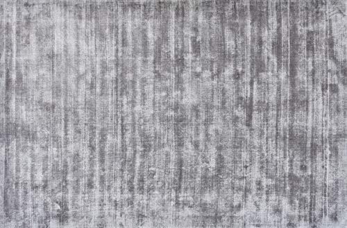 UNIVERS-DECOR Tapis en Viscose tissé à la Main Used 200 x 300 cm (Gris, Tapis Viscose tissé à la Main 200 x 300 cm)