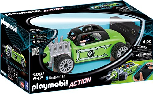 PLAYMOBIL- Racer Rock & Roll RC, Color Verde/Negro (9091)