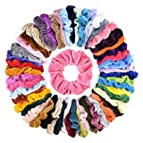 52 pcs Hair Scrunchies Velvet Elastics Bobbles Ponytail Holder Hair Bands Scrunchie Tie Ropes Scrunchy for Women Hair Accessories Great Gift for Halloween,Thanksgiving day and Christmas