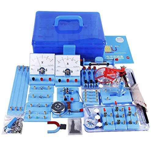 TTSUAI Conjunto Experimentos Electricidad Y Magnetismo Kit Básico Aprendizaje Circuito Básico para Niños Estudiantes De Secundaria