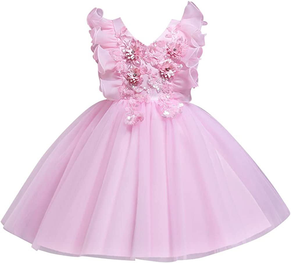 Complete Free Shipping IBTOM CASTLE Baby Girl Flower Dress Max 54% OFF Kids Pageant Birthday Formal