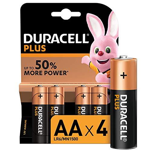 Duracell - Plus AA, Batterie Stilo Alcaline, confezione da 4 pacco del produttore, 1.5 volt LR06 MN1500