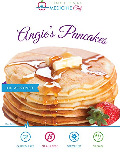 Angie's Pancake and Waffle Mix - Gluten free, Sprouted, Grain free, Dairy free, Organic, Vegan, Kosher by Functional Medicine Chef (12 oz)