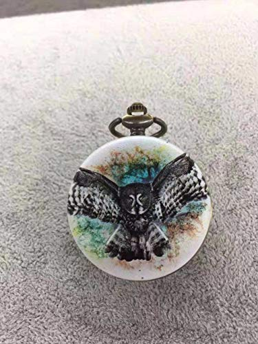 Nwarmsouth Reloj Médico de Bolsillo,Reloj de Bolsillo Animal 3D, Reloj de Bolsillo Retro con tapa-18,Paramédico Regalo Reloj