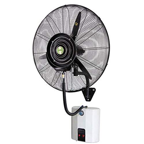 Ventilador montado en la Pared Ventiladores de bocina montados en la Pared, Ventilador oscilante eléctrico de nebulización, humidificación silenciosa de enfriamiento de atomización con Cabezal
