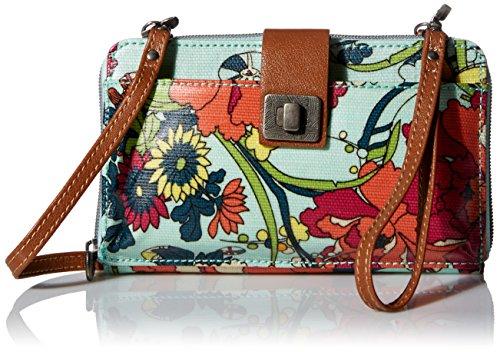 Sakroots Artist Circle Large Smartphone Cross-Body Phone Wallet Bag, Seafoam...