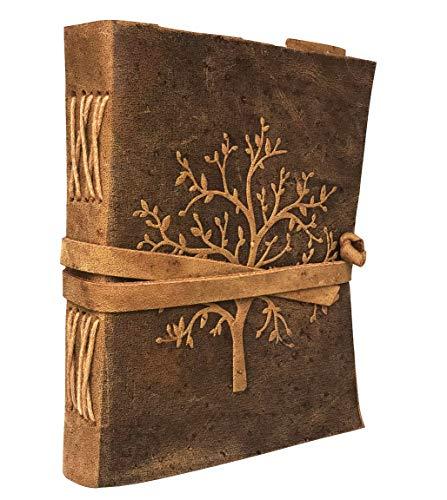 Diario de cuero Árbol de la vida  Cuaderno de cuero del árbol de la vida para mujeres  Árbol de la vida diario y cuaderno  Buffalo Leather Journal and Notebook   Libro en blanco