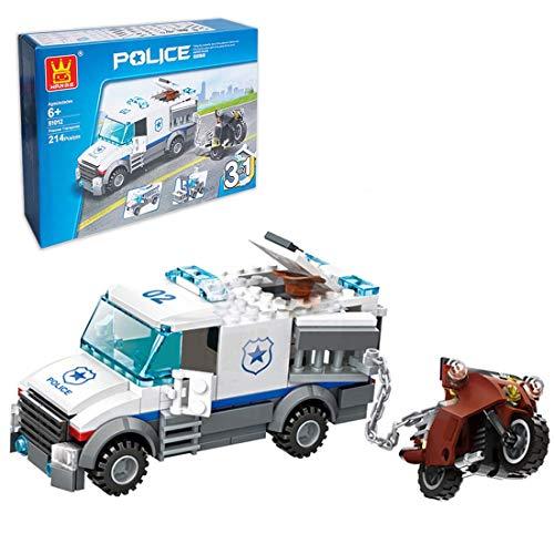CYGG Conjuntos de policía de la Ciudad, estación de policía de 214 Piezas con Mini Figuras, 3 en 1 Policía de la Ciudad de detención, Bloques de construcción de automóviles compatibles con Lego
