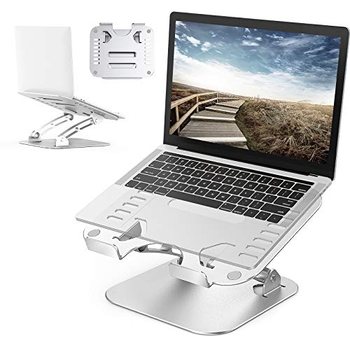REEXBON Laptop Stand, Ergonomic Height Angle Adjustable Computer Laptop Holder Compatible for MacBook, Pro/Air, Dell XPS, Lenovo, Samsung Laptops, Supports Up to 8kg laptop stand for desk