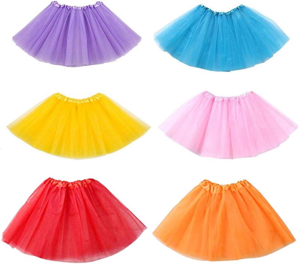Amazon.com: Koogel 6 PCS Tutu for Toddler Girls, 3-Layer Multicolor Tutu  Skirts Ballet Tutu Dress Up Tutu Kids Party Tutu for Dress Up The Game  Birthday Party Halloween Costume: Toys & Games