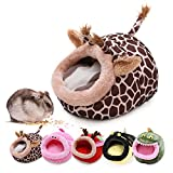 Guinea Pig Warm Bed Cage Accessories Chinchilla Hedgehog Ferret Rat Toys Hamster Supplies Habitat/House/Bed/Toy Lightweight, Durable,Portable Small Animals Cushion