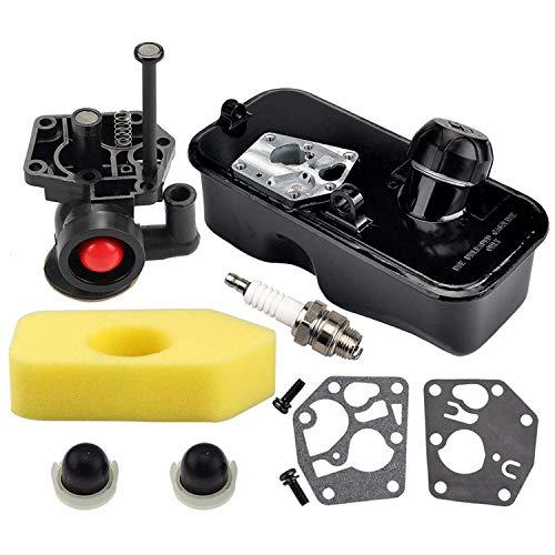 Yaootely Juego Filtro Aire y Carburador 795477 para 795469 794147 699660 794161 498811 09J900 09L900 09S500 09T500 09T700 10A902 Serie CortacéSped Vertical para Motores